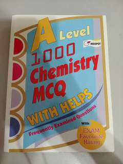 Redspot A Level 1000 Chemistrt MCQ with Helps