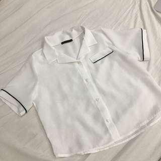 🚚 韓版睡衣風雪紡上衣