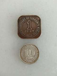 Old Coins - Commissioners of Currency Malaya