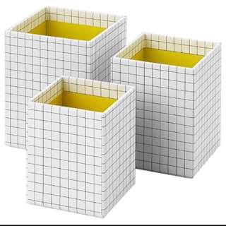 IKEA Hejsan Tempat Pensil Meja set isi 3