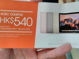 540$ Apple Mac book coupon