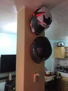 Helmet hook wall mount