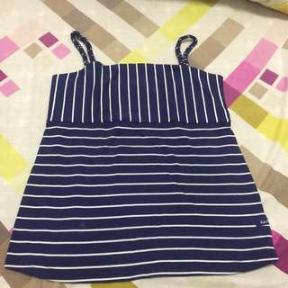 Navy Blue Stripe Top