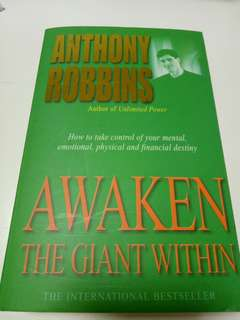 Awaken the giant within. By Anthony Robbins
