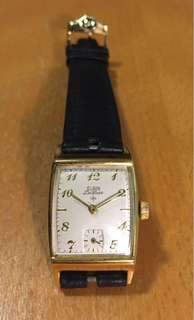 ELGIN De Luxe GP Square case watch 手動上鍊