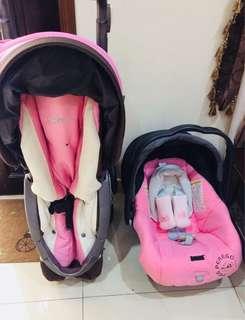 Peg Perego Pliko 3 Stroller & Car Seat (Pink)