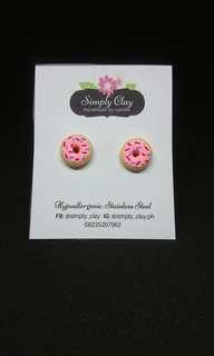 Strawberry Donut Earrings