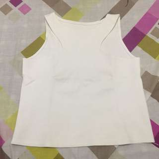White Reversible Crop Top