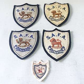 Lot of 5 Vintage S.A.F.A. Patches Including 2 Referee Patches