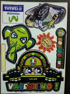 Valentino Rossi   stickers set for helmet of motorcycle