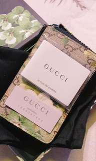 🚚 Gucci 天竺葵印花 零錢包