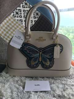 Coach embroidered butterfly bag - 2 ways!
