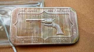 美國一安士手槍銀章,1oz silver medal