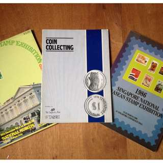Singapore International Stamp Exhibition, Coin Collecting and ASEAN stamp 1986 exhibition (3 books) $30