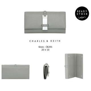 CHARLES AND KEITH Plate Mirror Wallet Original