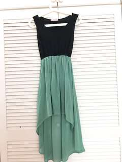Chiffon Hi-Lo Dress #20under