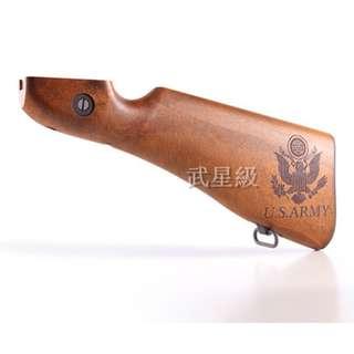 🚚 台南 武星級 WE 湯普森 M1A1 刻字 後托 改裝套件(THOMPSON 1928打字機教父二戰湯普森卡賓槍衝鋒槍