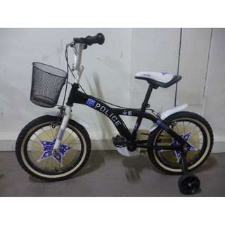 Rudge police bike bicycle Excellent condition Can remove training wheels if child can ride
