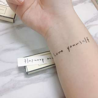 Love Yourself Tattoo Sticker