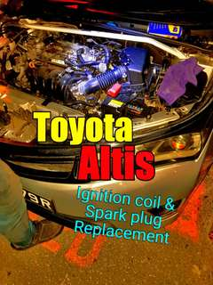 Toyota Altis Replacement of Ignition coil & Spark Plug (Due to Misfire)