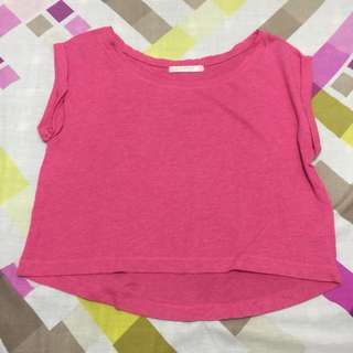 Bershka Pink Crop Top