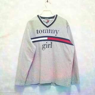 三件7折🎊 Tommy Hilfiger 長T 老T 灰 大串珠logo 極稀有 老品 復古 古著 Vintage