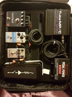 URGENT, BUY BULK FOR CHEAP--Pedals, preamp, pedalboard!