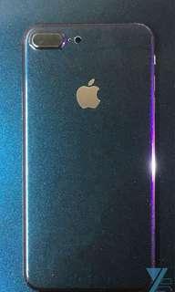 [最熱賣]iPhone貼膜-紫藍金變色(光面)