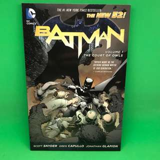 Batman 蝙蝠俠 New 52 The court of owls 貓頭鷹法庭