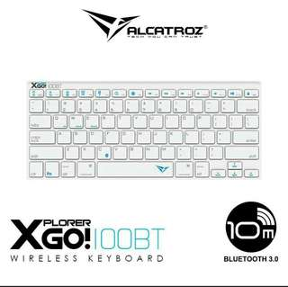 [BNIB] Alcatroz Wireless Keyboard Xplorer Go! 100BT - Silvet
