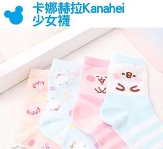 台灣 預購 卡娜赫拉 Kanahei P助與兔兔 短襪 短筒襪