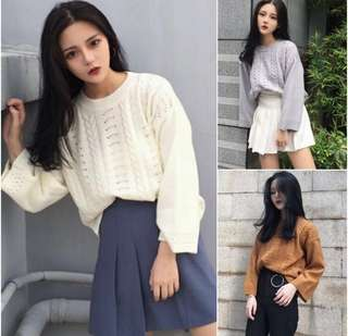 READY STOCK Knitted Long Sleeve Top  #letgo4raya