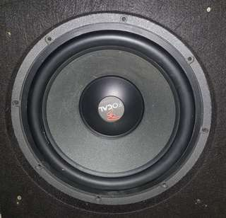 "Focal 12"" sub and Focal Monoblock Amp"