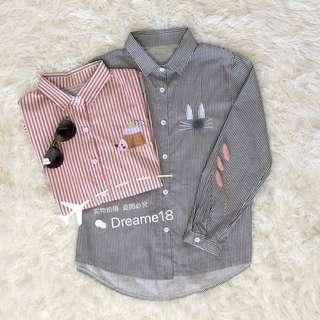 Long Sleeve Stripe Shirt 长袖条纹衬衫