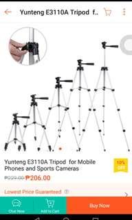 Yunteng Cellphone and Camera Tripod