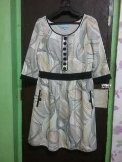 3/4 Sleeve Printed Dress