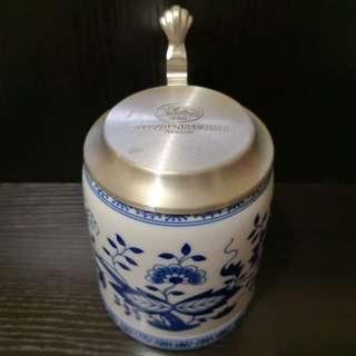 Blue danube beer mug