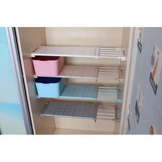 多功能延伸衣櫃架(長57-90cm寬24cm)