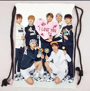 PO BTS Drawstring Bag