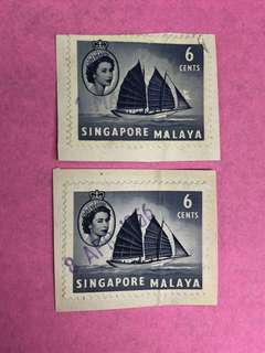 1956 stamp Singapore Malaya collectors vintage