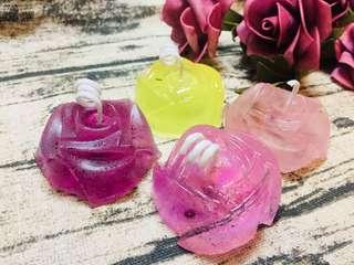 [母親節系列]手工製香薰玫瑰花水晶蠟燭