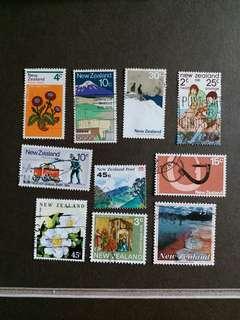 新西蘭郵票 已銷郵票 十枚