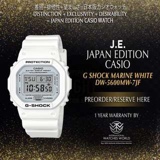CASIO JAPAN EDITION G SHOCK MARINE WHITE DW5600MW-7JF