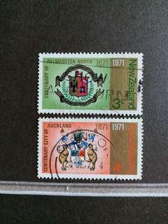 新西蘭郵票 已銷郵票 一套二全