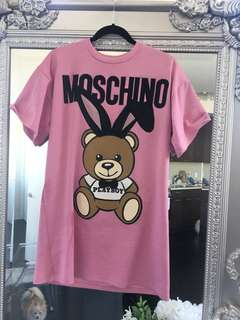 Brand new 2018 Moschino playboy t shirt dress