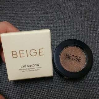 Beige eye shadow