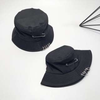 Black Harajuku Bucket Hat