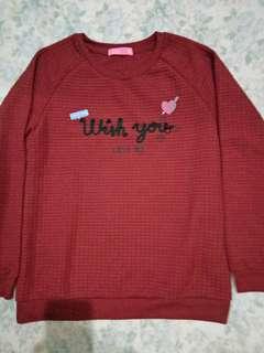 Zelia Sweater Burgundy Maroon