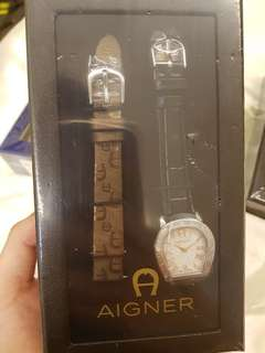 Authentic Brand new Aigner Amalfi Ladies watch with changeable straps