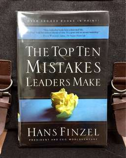 # Highly Recommended《New Book Condition + Stop Making The Same Old Mistakes》Hans Finzel - THE TOP TEN MISTAKES LEADERS MAKE